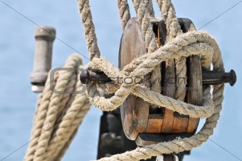 Old sailing equipment