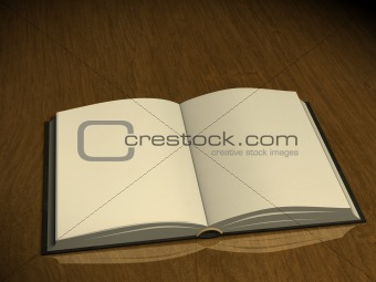 3d book with empty pages