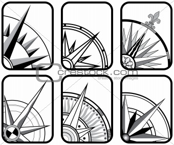 Six Compass Icons