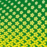 Yellow Flower Halftone Pattern
