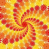 Red Orange and Yellow Flower Swirl Background