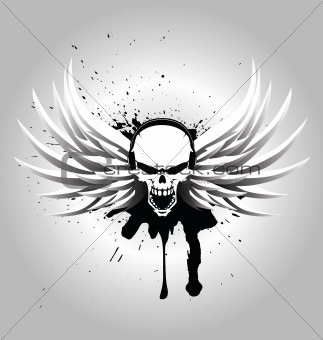 Image Description: Skull DJ with wings