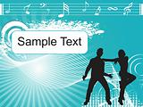 dancing couple sample text and music graph, wallpaper