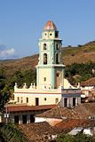 Belltower in the old town Trinidad, Cuba