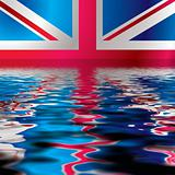 British flag reflection