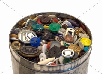 Tin Can With Buttons