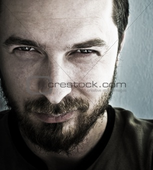 Man with deep sparkling eyes
