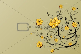 Beautiful floral grunge background
