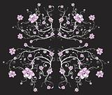 Beautiful black floral background