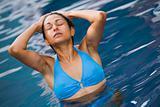 Bikini girl in pool