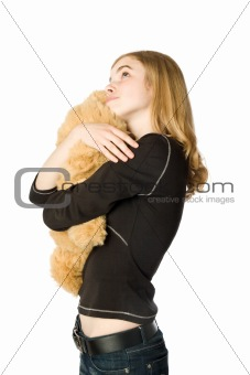 Girl with a Teddy bear