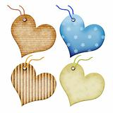 Gift tags in the form of heart.