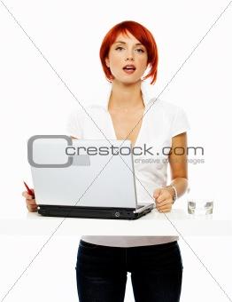 smiling business women at presentation