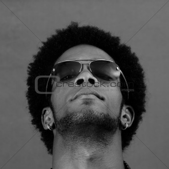 African male head