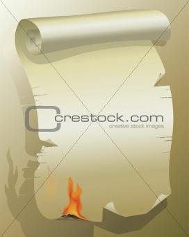 Flaming Paper