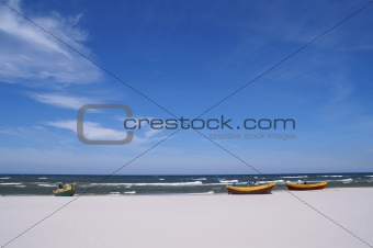three fishboats