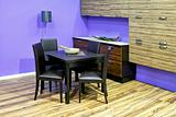 Purple dinning room
