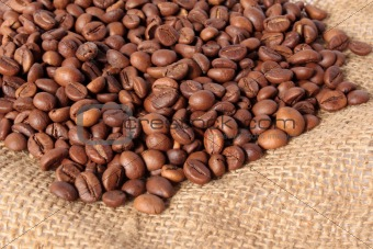 Beans of coffee