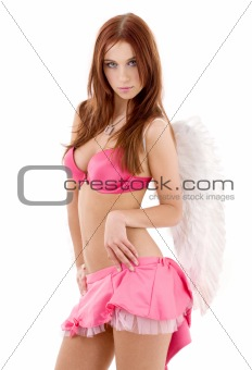 pink lingerie angel