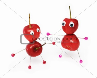 Amusing sweet cherry