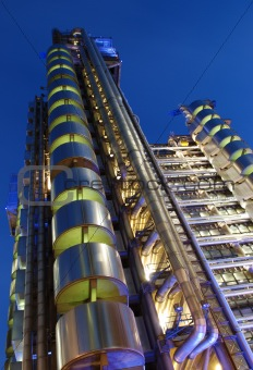 City of London-modern architecture at night