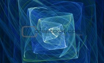 aqua blue wisping fractal