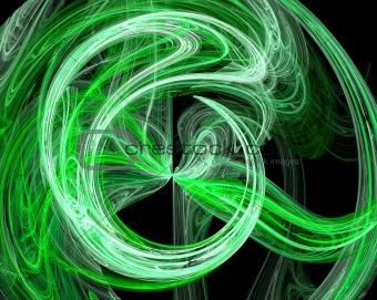 Green abstract burst design