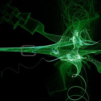 green high tech border illustration