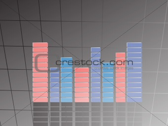 background of musical graph, vector illustartion