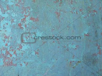 blue paint peeling off
