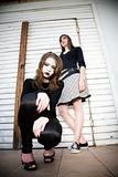 Goth Girl Crouching Down