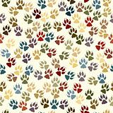 Paw seamless tile