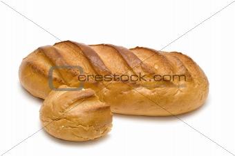 bread stick on white