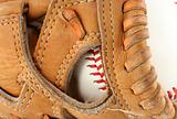 Baseball glove with ball macro