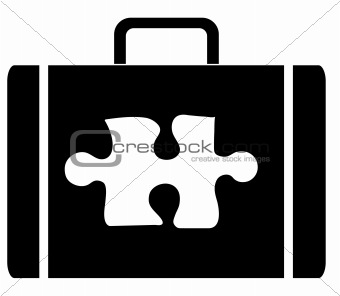 briefcase with puzzling contents