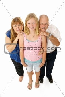 Blond Blue Eyed Family Full Body