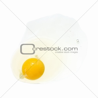 broken egg, isolated